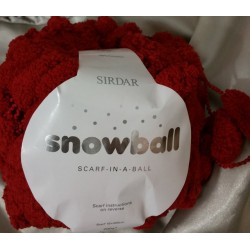 Sirdar Snowball Scarf-on-a-ball Red 200g