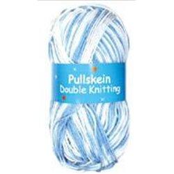BL Pullskein DK Sky Blue/ white 31 100g