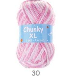 BL Chunky XL Pink/ White 30  200g