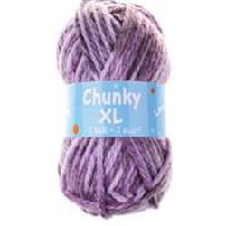BL Chunky XL Lt Lilac/ Dk Lilac Plum 124  200g