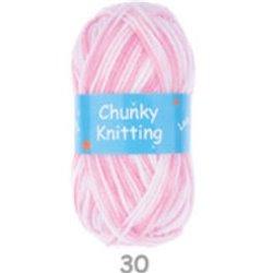 BL Chunky Pink & White 30 100g