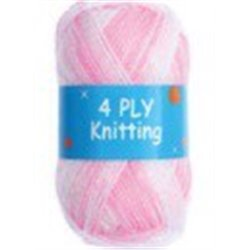 BL 4ply Pink & White 30 25g