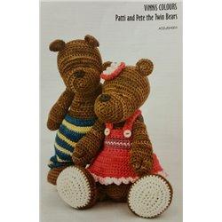 Vinnis Patti & Pete Twin Bears 4CDJSH001