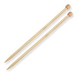 Knitting Needles Bamboo 6mm  30 cm