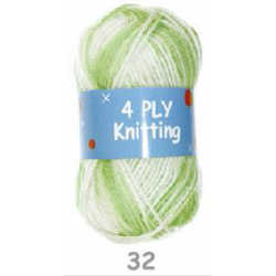 BL 4ply 032 Lime & White 25g